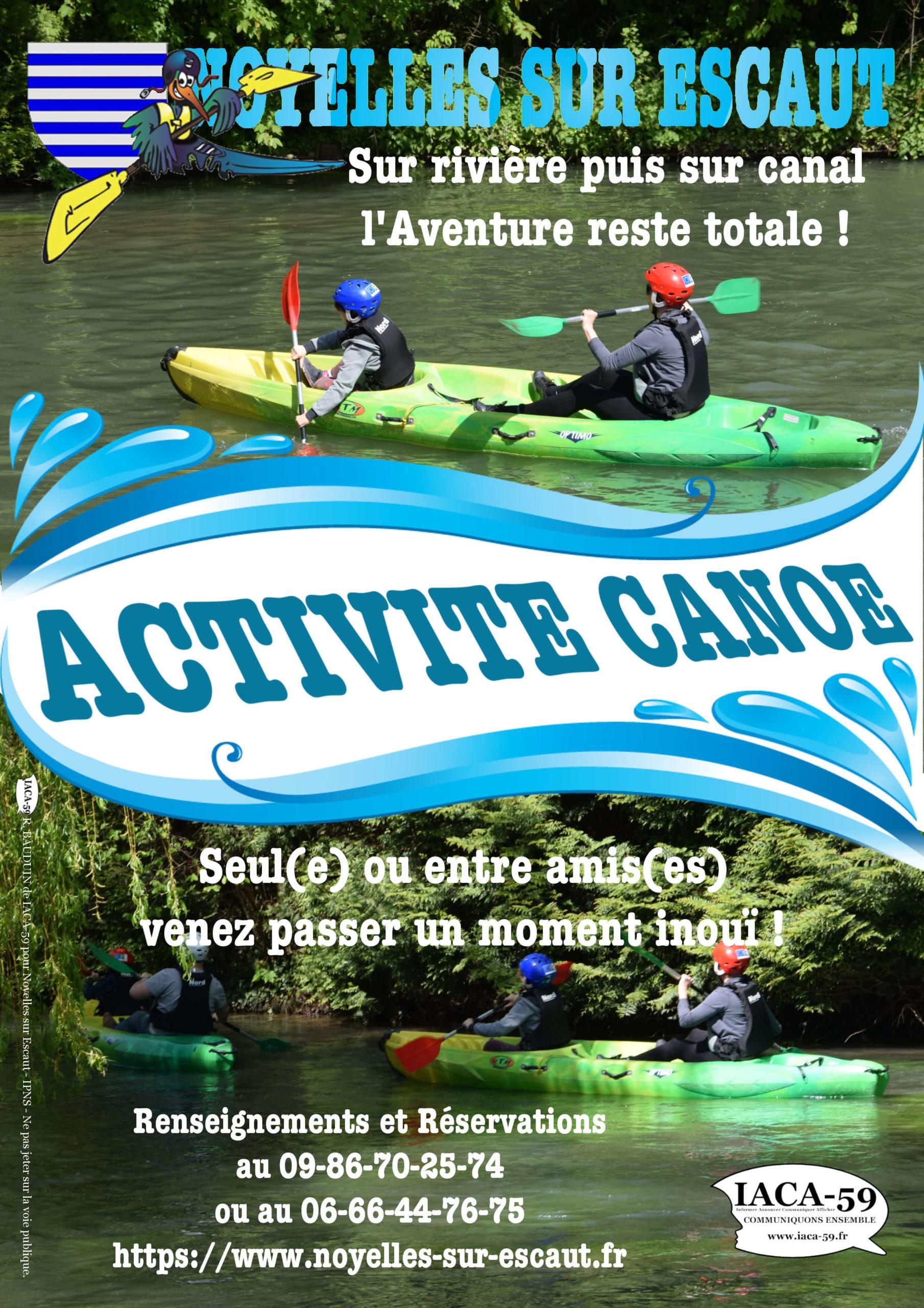 Affiche Activité Canoë IACA-59